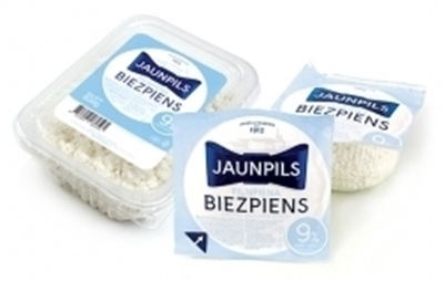 Picture of Jaunpils Curd Cheese, whole milk 9%, 0,275g QTY in box: 12