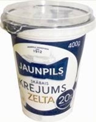 Picture of Soured Cream 20%, Jaunpils 400g QTY in box: 12