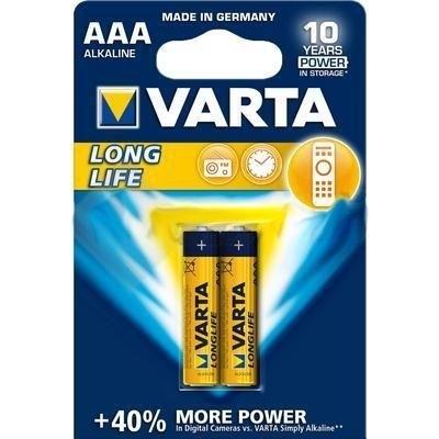 Picture of BAT. VARTA Longlife MICRO LR03 AAA 1.5V 2pcs BLISTER  (in box 20)