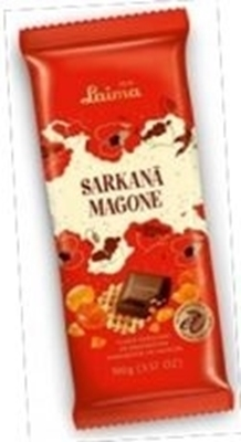 Picture of Dark chocolate with caramel and waffles 100g (in box 15)
