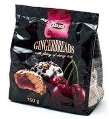 Picture of ADUGS - Gingerbread with cherry filling, 250g (in box 12)