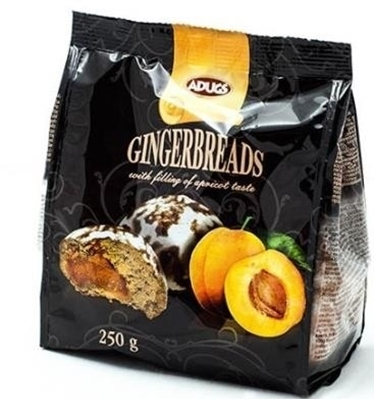 Picture of ADUGS - Gingerbread with apricot filling, 250g (in box 12)