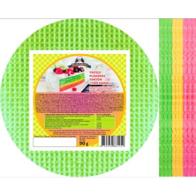 Picture of FUTURUS FOOD –Wafers plate for cake Three colors 90g