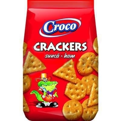 Picture of CROCO CRACKERS HAM AND CREAM 100g (in box 20)
