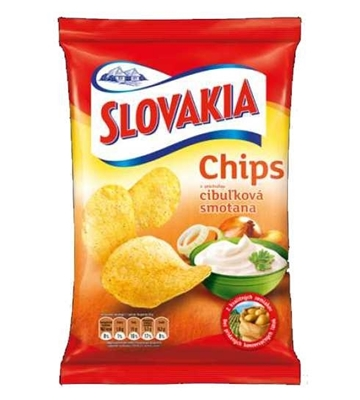 Picture of SLOVAKIA CHIPS SOUR CREAM  AND ONION  75g (in box 15)