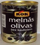 Picture of KOK - Black pitted olives 300g
