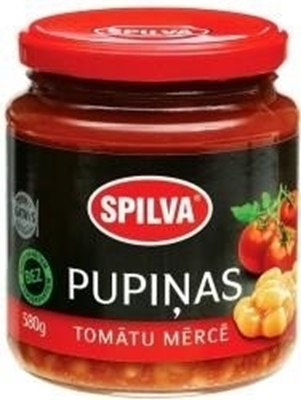 Picture of SPILVA - Beans in tomato sauce 0.58 (in box 6)