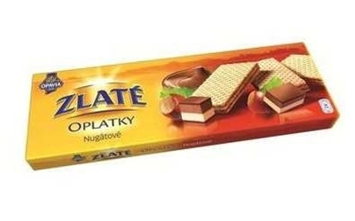Picture of Gold WAFERS / 146g ZLATÉ NUGÁT White and Dark Chocolate (in box 14)