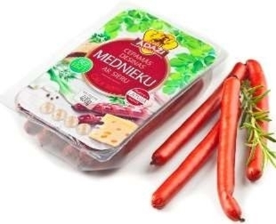 Picture of ADAZU GALA - Barbecue / Hunter sausages with cheese Mednieku 500g