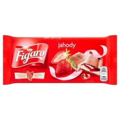 Picture of CHOCOLATE STRAWBERRIES AND CREAM 90g FIGARO (in box 25)