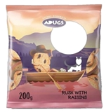 Picture of ADUGS - Rusks with rasains 200g (box*20)
