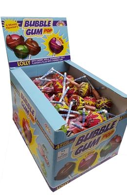 Picture of LOLLIPOPS BUBBLE GUM POP MIX 15g BOX (in box 100)