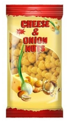 """Picture of JEGA - Peanut in a crispy shell with cheese and onion """"Jėga"""" 200g (box*7)"""