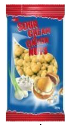 "Picture of JEGA - Peanut in a crispy shell sour cream and onion taste ""Jėga"" 200g (box*7)"