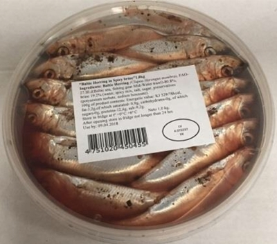 Picture of IRBE - Baltic herring in spicy sauce 1000g (Renges garsv.sal) (box*6)
