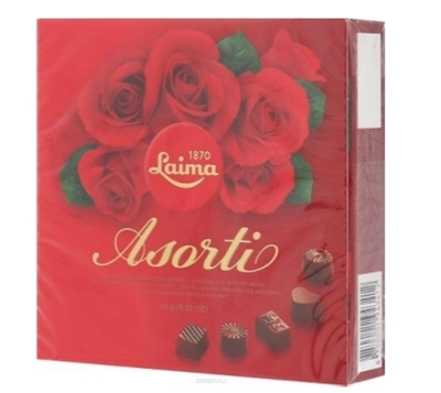 Picture of LAIMA - chocolate assortment 95g (box*12)
