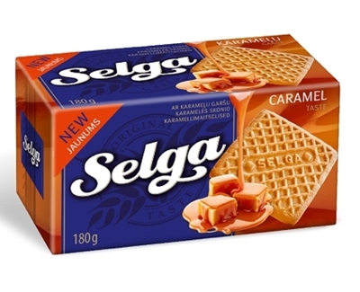 Picture of LAIMA - SELGA biscuits with caramel taste 180g (box*48)