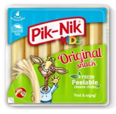 "Picture of Žemaitijos Pienas - ""Pik-Nik Kids"" Original fresh  cheese strings, 140g (in box 8)"