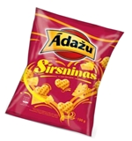 Picture of ADAZU - Corn hearts with nacho cheese flavour, 100g (Box*18)