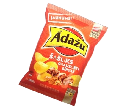 Picture of ADAZU - Chips shashlik and roasted onions flavour, 150g (Box*18)