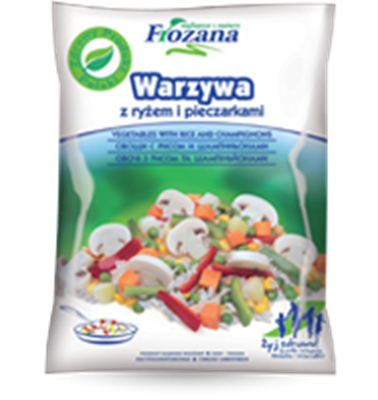 Picture of Frozana - Stir-Fry vegetables with rice and champignons, 450g (box*12)
