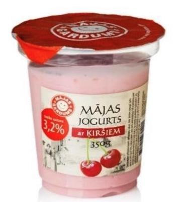 Picture of Majas Gardums - 3.2% fat yogurt with cherries, 250g (box*9)