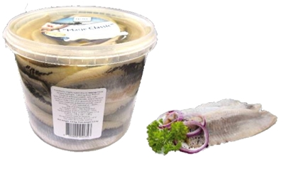 "Picture of IRBE - Slightly salted Herring fillets ""Matje Classic"" in oil, 1kg (pail) £/kg"