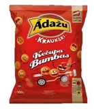 "Picture of ADAZU - Corn snacks ""Balls Roulette"" with  ketchup flavour, 100g (In box 18)"
