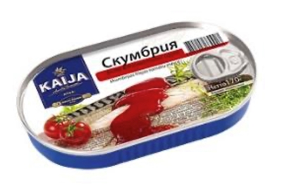 Picture of KAIJA - Mackerel fillet in tomato sauce, 170g (box*24)