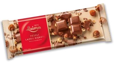 Picture of LAIMA - Milk choc. with whole roasted hazelnuts,  200g  (box*9)