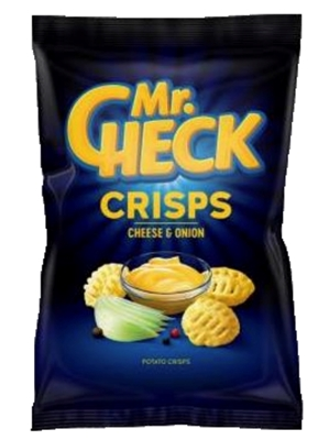 Picture of ZMFOOD - Potato crisps Mr.Check Cheesy Pops  cheese and onion, 90g (box*15)