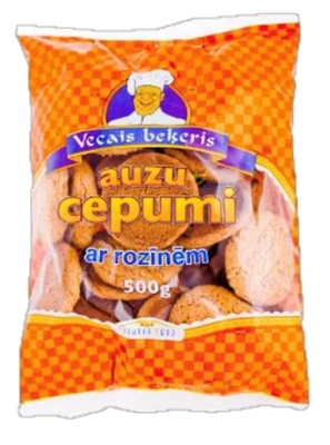 Picture of Vecais Bekeris - Oat cookies with raisins, 500g (box*8)