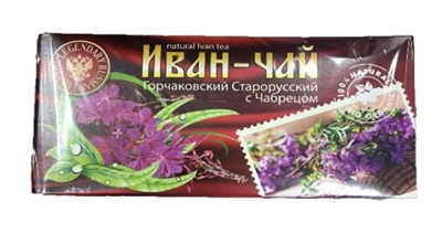 "Picture of TIAVIT - Ivan Tea ""Gorchakovsky, Old Russian"" with thyme, 20 × 1.5g"
