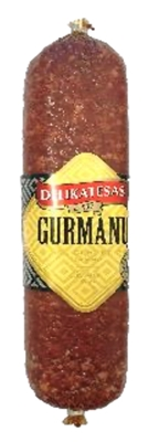 """Picture of BM - Cold smoked sausage """"Gurmanu"""", ±300g £/kg"""