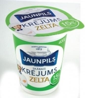Picture of Jaunpils pienotava - Sour cream 15%, 400g (box*12)