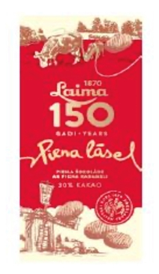 "Picture of LAIMA - Laima Milk chocolate ""Piena Lāse"", 100g (box*17)"