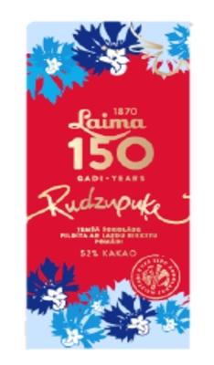 """Picture of LAIMA - Laima Dark chocolate """"Rudzupuķe"""", 107g (box*11)"""