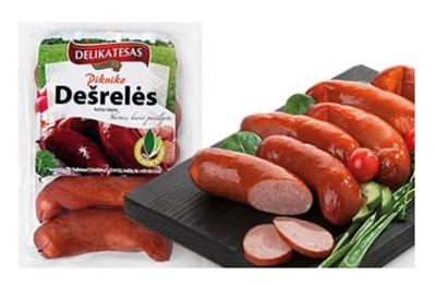"""Picture of BM - Hot smoked barbecue sausages """"Pikniko desreles"""", ±500g £/kg"""