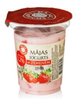Picture of Majas Gardums - 3.2% fat yogurt with stawberriess, 250g (box*9)