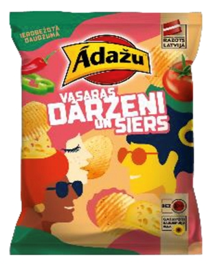 Picture of ADAZU - Chips summer Vegetables and cheese 150g (box*18)