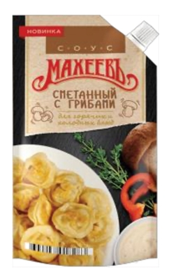 Picture of MAHEEV - Sour cream with mushrooms sauce, 200g (box*20)