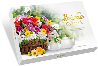 """Picture of LAIMA - Assortment of chocolates Laima """"Flower basket"""", 190g (box*14)"""