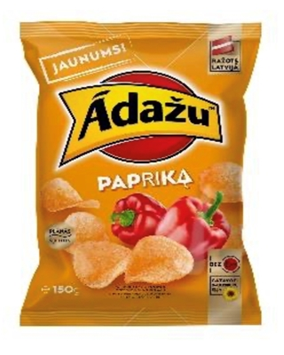 Picture of ADAZU - Chips Paprika flavour 150g (box*18)