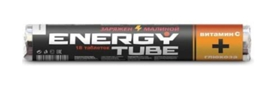 "Picture of VITAMIR - ""Energy Tube"" Glucose+ Vitamin C Cherry flavor, 18 tabl (box*20)"