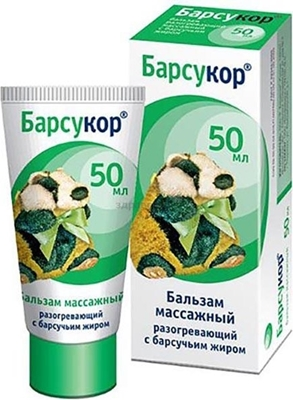 Picture of Barsukor - Massage balsam-cream with badger  fat, 50ml (box*6)