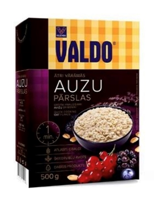 Picture of VALDO - Oat flakes quick cooking / Auzu parslas  a/varamas, 500g (box*14)