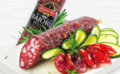 """Picture of BM - Cold smoked sausage """"Bajoru"""", ±300g £/kg"""