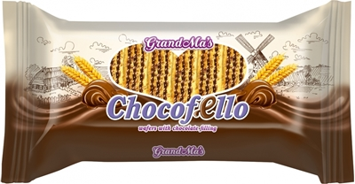 """Picture of GRANEX - Waffles with cacao filling """"Chocofello"""" 440g (box*12)"""