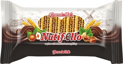 "Picture of GRANEX - Waffles with Nutella/hazelnuts filling ""Nutifello"" 370g (box*12)"