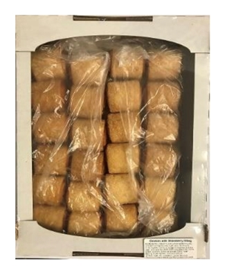 Picture of RAVSENTE - Mini rolls with strawberry filling 500g